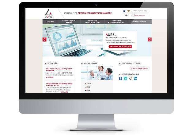 Page d'accueil du site Lore Finance