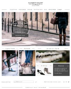 Page d'accueil du site Web Elizabeth Stuart