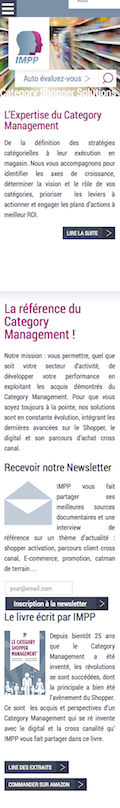 Page d'accueil IMPP 2014 sur iPhone - Partie 1