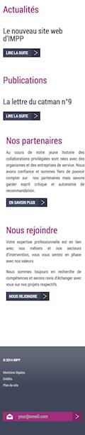 Page d'accueil IMPP 2014 sur iPhone - Partie 4