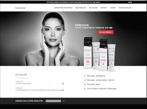 Page d'accueil du site Fadiamone.com