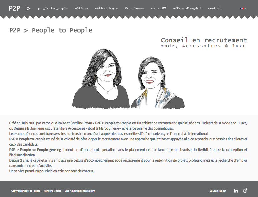 page d'accueil agence people to people