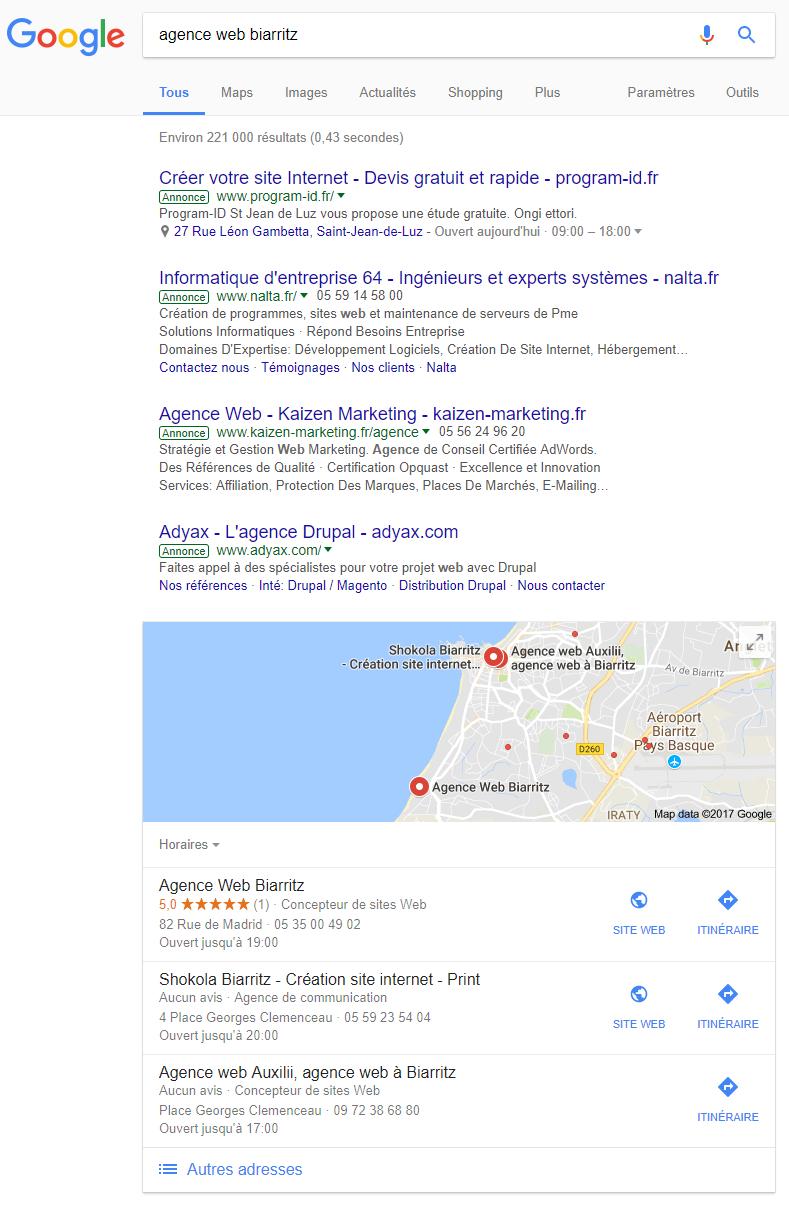 agence web google my business