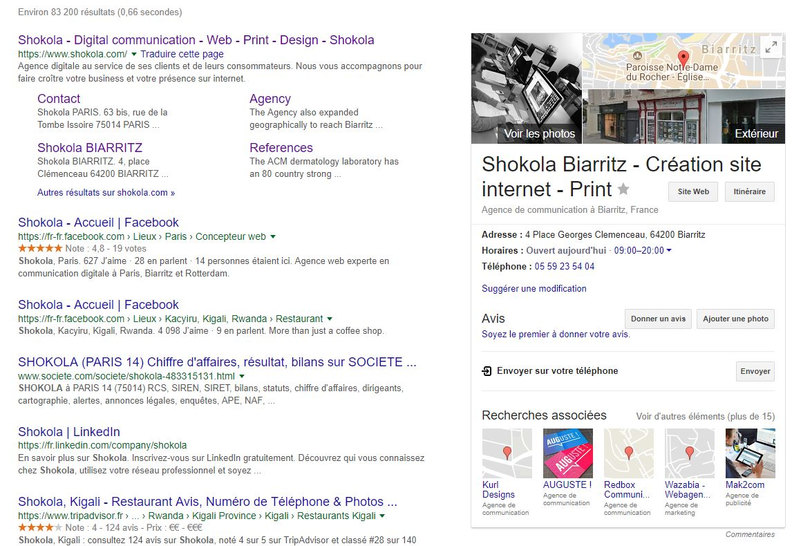 shokola google my business