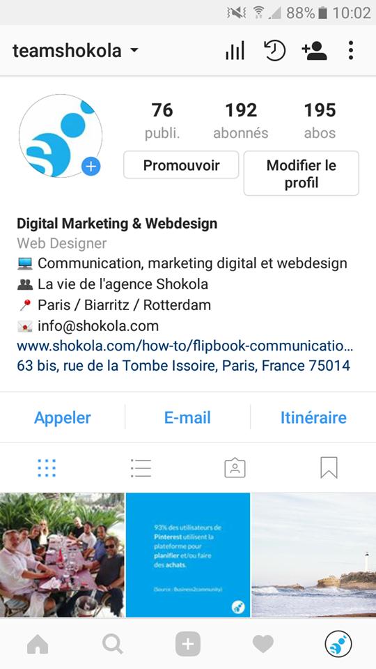 instagram shokola compte