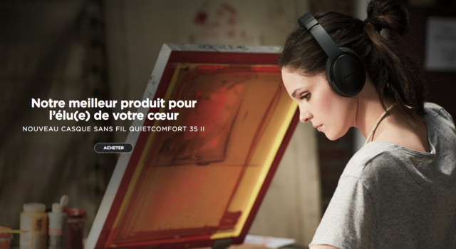 page accueil site bose