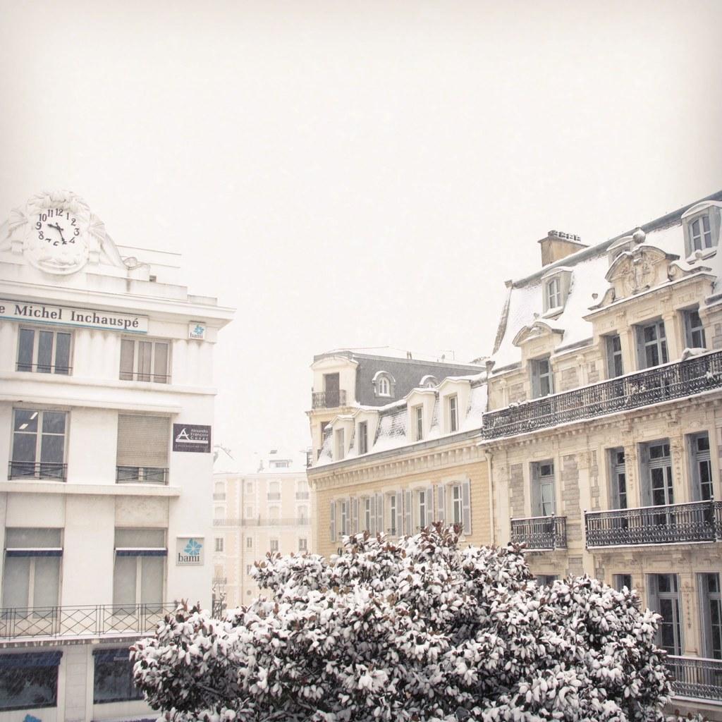 Biarritz sous la neige