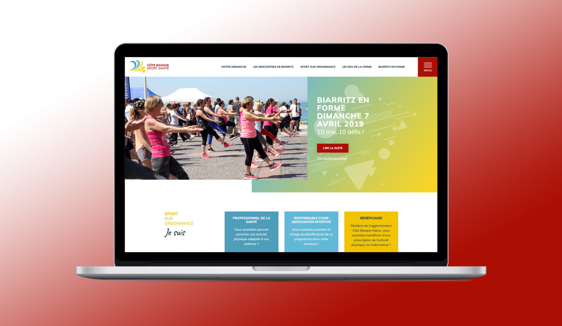 Cote basque sport santé accueil