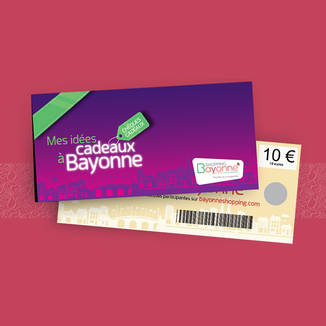 bayonne shopping chèque cadeau