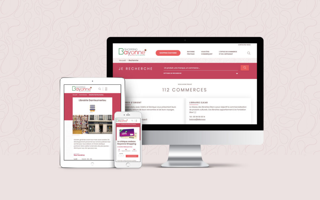 Bayonne Shopping Mockup Site Intenet