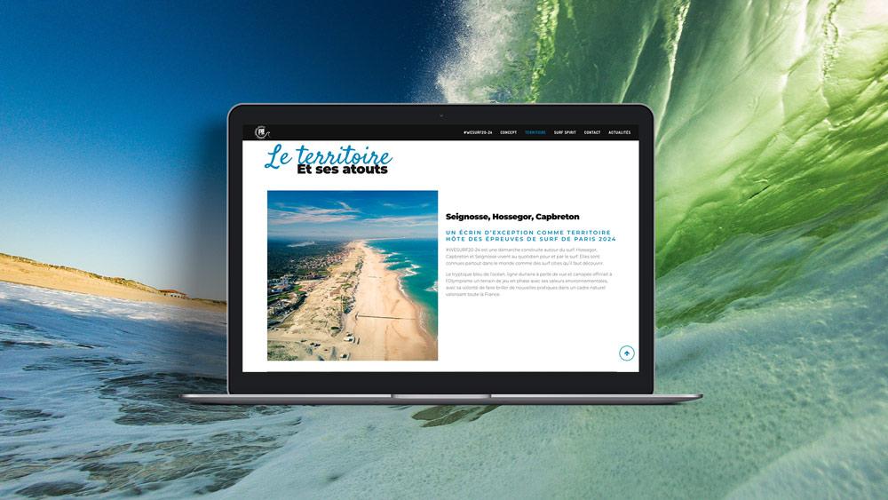 wesurf2024 site web landes